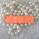 Etiqueta anaranjada brillante modificada para requisitos particulares fábrica de la ropa, etiqueta tejida