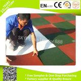 Estera de goma antirresbaladiza del suelo de la estera de goma del suelo de la gimnasia