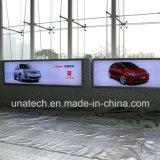 Rectángulo ligero al aire libre puesto a contraluz LED de la publicidad de media de la bandera de la película del metro del montaje de la pared/Ads/Ad