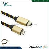 나일론 끈목 세륨 RoHS를 가진 5p 남성 케이블 Matel 마이크로 헤드에 USB3.1 C 남성