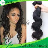 Extensão não processada por atacado do cabelo humano do Weave 100% do cabelo da fábrica