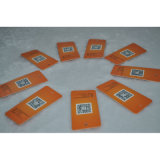 Upc het Oranje Document Hangtag van de Code met Apparel/Clothing/Jeans/Bags