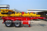 2-Axles 7m 20FT roter skelettartiger halb Schlussteil