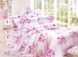 El lecho casero fijó la hoja 100% de cama del algodón
