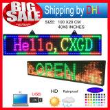 P10 van de LEIDENE van RGB Openlucht Volledige LEIDENE van de Kleur Programmablefor van de Vertoning van het LEIDENE van de Duim Grootte van Tekens 39X8 Raad de Scrollende Bericht van het Teken