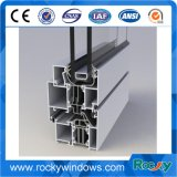 Profil d'aluminium de guichet de traitement extérieur de Finshed de moulin