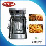 Friggitrice ad immersione elettrica ad un solo serbatoio delle patatine fritte dell'acciaio inossidabile