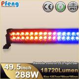 Nueva barra ligera multi del estroboscópico LED del color de la pulgada 288W del producto 49.5