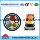 PVC de cuivre/en aluminium de conducteur a isolé le câble d'alimentation (PE) engainé par PVC
