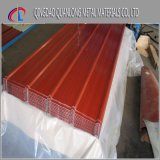 Feuille en acier ondulée enduite d'une première couche de peinture de toiture enduite par couleur