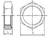 Écrou six-pans d'ajustage de précision de pipe d'acier inoxydable