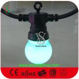 Indicatore luminoso di gomma raccordabile della cinghia del cavo LED per la decorazione di festa
