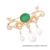 관대한 Pearl Brooch Pin Jewelry 형식에 의하여 다이아몬드 껍질로 덮이는 펀던트 숙녀