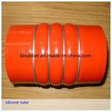 Boyau droit de bosse de silicones bleus flexibles avec 3 boucles en acier