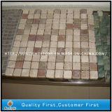 Preiswerte natürliche Marmorsteinmosaik-Wand-Fliesen für Innendekoration