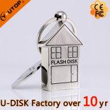 Movimentação relativa à promoção do flash do USB do coração do presente dos bens imobiliários da casa do metal