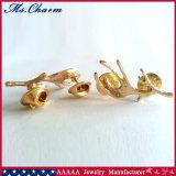 絶妙な方法宝石類1つのペアの金によってめっきされる枝角のブローチPin
