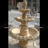Fontana di pietra di marmo Mf-107 del calcio dell'oggetto d'antiquariato della fontana del granito