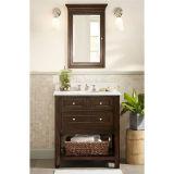 Étage simple restant la vanité en bois de salle de bains
