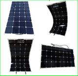 Pouvoir semi flexible 125*125mm du panneau solaire 100W Sun du panneau solaire 100W de prix usine avec le chargeur de la batterie 12V