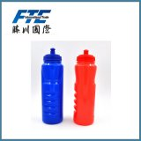 мягкая пластичная бутылка воды 1000ml с BPA освобождает с волной