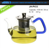 Teiera di vetro del creatore di tè della brocca della cristalleria con il filtro dall'acciaio inossidabile