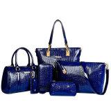 Sac à main réglé 6PCS de cuir de crocodile de sac élégant de femmes de sacs à main des sacs à main 2016 de créateur dans un sac