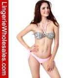 Bikini sexy delle signore a due pezzi abbastanza nello Swimwear del Bandeau del Halter del reticolo