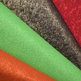 Textured кожа мешка войлока яркия блеска, кожа сумки PU