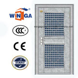 電流を通されたステンレス鋼の入口の機密保護の鋼鉄ガラスドア(W-GH-27)