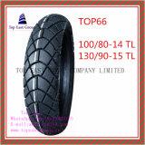 Superqualität, schlauchloser Motorrad-Reifen mit 100/80-14tl, 130/90-15tl
