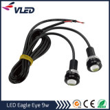 9W 18mm blanco 12V LED Eagle Eye día corriendo DRL luz de freno