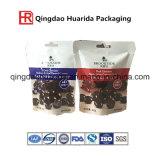 Le blocage en plastique sec comique mat de fermeture éclair de conditionnement des aliments met en sac autour des sacs de Mylar de noir de guichet pour le chocolat
