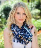 Шарфы & обручи напечатанных женщин шарфа безграничности