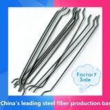 Diritto e fibra agganciata dell'acciaio dell'estremità