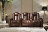 Disposizione dei posti a sedere moderna del cinematografo della casa del sofà
