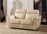 Italia Color diseño cuero reclinable Sofá