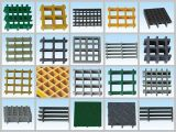 China-Fiberglas geformte Vergitterung/quadratisches Ineinander greifen 38X38X38/FRP, GRP Vergitterung