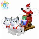 Opblaasbare Kerstmis van de Levering van de Ar van Huskies van de winkel