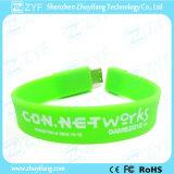 Multicolor привод USB Wristband браслета с изготовленный на заказ логосом (ZYF1256)