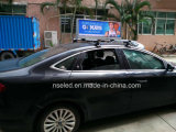 Visualización de LED impermeable al aire libre lateral doble del taxi de los primeros P5 del taxi