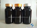 Bottiglia di plastica dell'animale domestico con il coperchio a vite per i ridurre in pani o le capsule