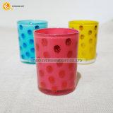 Vaso coloreado alta calidad del vidrio de consumición 12oz