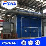 Équipement de la chambre de sablage avec système automatique de récupération mécanique