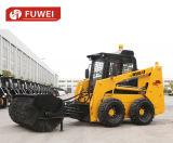 Затяжелитель кормила скида Machineryfuwei Ws85 фермы затяжелителя фронта управлением кнюппеля с меняемыми приложениями