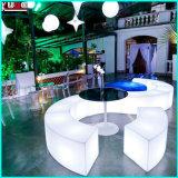 Type montage moderne de meubles de barre de cube en boîte de nuit d'apparence 3D DEL