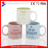 18oz Colored Straight Body Ceramic Mug mit Family Design