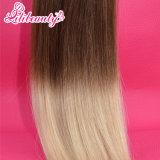 Extensões do cabelo da fita do plutônio do cabelo humano de Remy do Virgin da boa qualidade