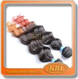 아름다운 색깔 브라질인 2 음색 머리 직물
