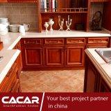 Re-Desempenho de Gothenburg do gabinete de cozinha clássico da madeira contínua (CA09-21)
